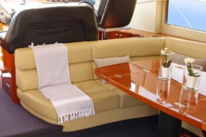 64' Sunseeker Predator 62 2006 Main Deck Salon/ Dining Area