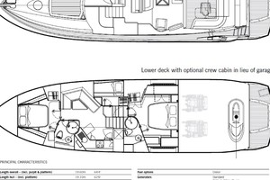 64' Sunseeker Predator 62 2006 Layout