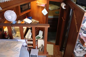 36' Jersey 36 Convertible 1990 Galley Down