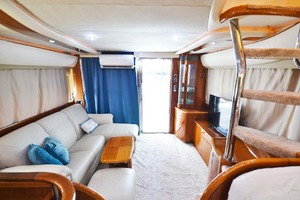 61' Viking Princess Sport Cruiser 2004 Salon Looking Aft