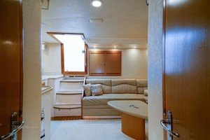 45' Cabo Express 2007 Salon Looking Aft