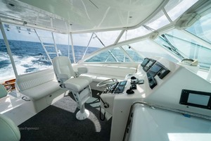 Marauder is a Cabo Express Yacht For Sale in Palm Beach Gardens-Helm Deck-27