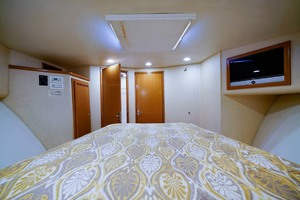 45' Cabo Express 2007 Forward Stateroom Looking Aft