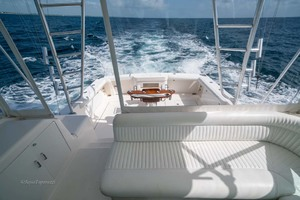 45' Cabo Express 2007 Helm Deck Seating