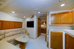 45' Cabo Express 2007 Salon Looking  Forward At Stateroom Entry