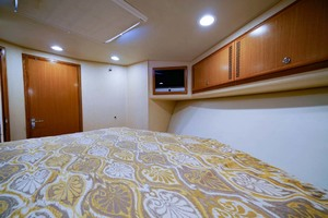 Marauder is a Cabo Express Yacht For Sale in Palm Beach Gardens-Forward Stateroom Port Aft-13