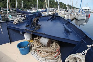 60' Custom Blount Marine Research Vessel 1966 Foredeck
