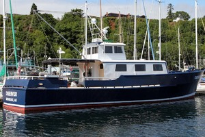 60' Custom Blount Marine Research Vessel 1966 Starboard View
