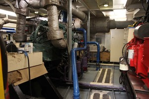 60' Custom Blount Marine Research Vessel 1966 Engine Room