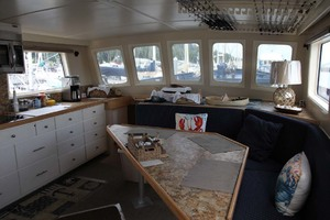 60' Custom Blount Marine Research Vessel 1966 Main Salon