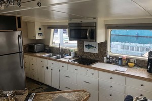 60' Custom Blount Marine Research Vessel 1966 Galley