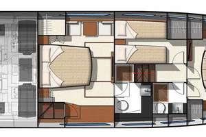 50' Prestige 500 Fly 2016 Stateroom Layout