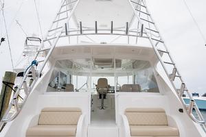 53' Viking 52 Sport Tower 2018 Cockpit