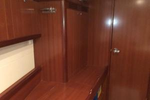 49' Beneteau America 49 2007 Forward stateroom hanging closed