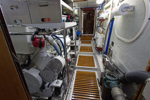 59' Selene  2008 Engine Room