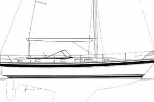42' Hallberg-Rassy 42F MK I 1994 Profile Sketch