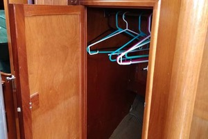 40' Hinckley Bermuda 40 MK III Sloop 1979 Salon Hanging Locker