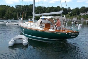40' Hinckley Bermuda 40 MK III Sloop 1979 Port Aft, Dinghy   Moored