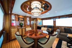 72' Hatteras 72 Motor Yacht 2008 Dining Area Forward