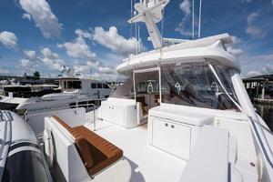 73' Hatteras 72 Motor Yacht 2008 Boat Deck Forward to Port
