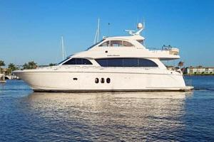 73' Hatteras 72 Motor Yacht 2008 Port Side Profile