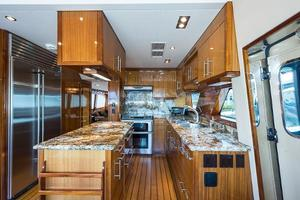 73' Hatteras 72 Motor Yacht 2008 Galley