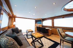 73' Hatteras 72 Motor Yacht 2008 Salon Aft to Port