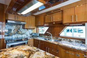 73' Hatteras 72 Motor Yacht 2008 Galley Cabinetry