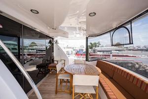 72' Hatteras 72 Motor Yacht 2008 Aft Deck to Starboard
