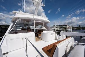 72' Hatteras 72 Motor Yacht 2008 Boat Deck Forward to Starboard