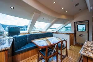 73' Hatteras 72 Motor Yacht 2008 Galley Forward to Starboard