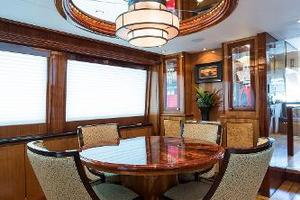 73' Hatteras 72 Motor Yacht 2008 Custom Dining Table