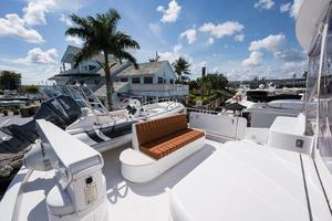 72' Hatteras 72 Motor Yacht 2008 Boat Deck to Port