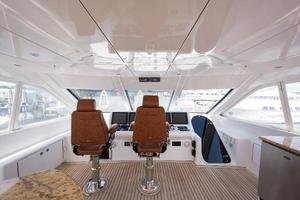 73' Hatteras 72 Motor Yacht 2008 Crown Helm & Companion Chairs