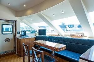 72' Hatteras 72 Motor Yacht 2008 Galley Forward Dining
