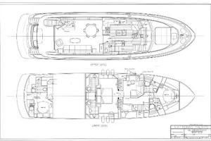73' Hatteras 72 Motor Yacht 2008 General Arrangement