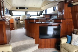 59' Marquis Flybridge Motor Yacht 2004 Helm, Galley And Salon