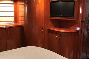 59' Marquis Flybridge Motor Yacht 2004 Master Stateroom TV