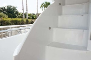59' Marquis Flybridge Motor Yacht 2004 Molded Stairs to Flybridge