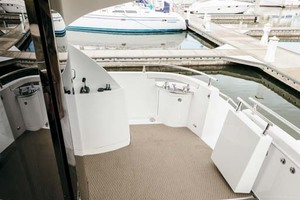 59' Marquis Flybridge Motor Yacht 2004 Aft Deck to Stbd