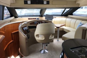 59' Marquis Flybridge Motor Yacht 2004 Lower Helm Area