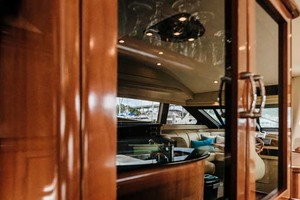 59' Marquis Flybridge Motor Yacht 2004 Glassware, Entertainment Cabinet
