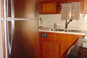 47' Atlantic Motor Yacht 1988 Galley Aft