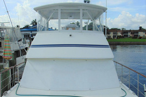 47' Atlantic Motor Yacht 1988 Forward Deck Aft View
