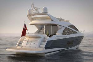 53' Sunseeker Manhattan 53 2012 23 Manufacturer Provided Pic Navy Hull Stern