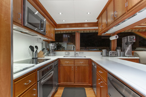 128' Palmer Johnson Custom Tri-deck Motoryacht 2000 GALLEY