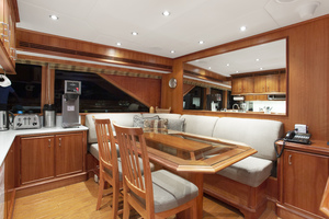 128' Palmer Johnson Custom Tri-deck Motoryacht 2000 GALLEY DINETTE
