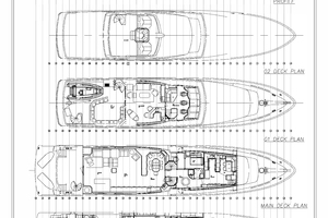128' Palmer Johnson Custom Tri-deck Motoryacht 2000 LAYOUT