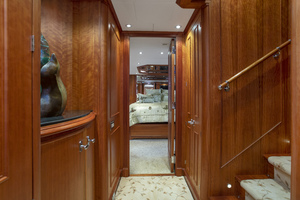 128' Palmer Johnson Custom Tri-deck Motoryacht 2000 FOYER ACCOMMODATIONS