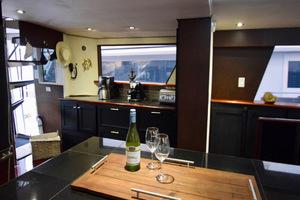 78' Hatteras Cockpit Motoryacht 1989 Galley Port To Starboard